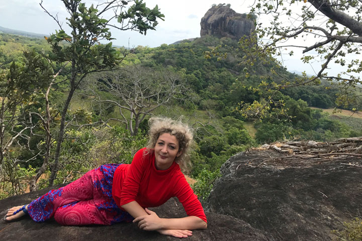hiking in Sigiriya