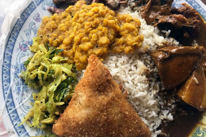 authentic Sri Lankan food