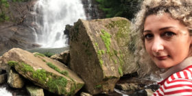 Romboda Falls Selfie