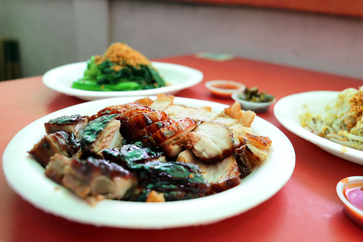 Juicy soya sauce chicken and tender roast pork by Michelin-starred Hawker Chan