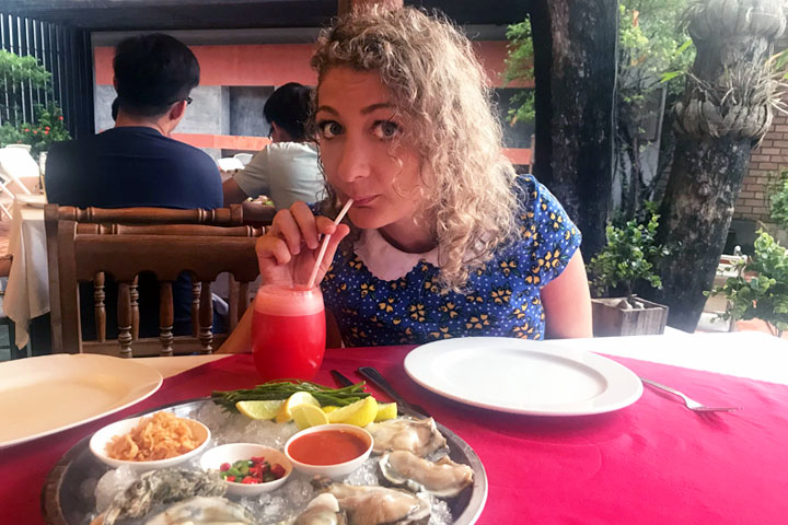 Food poisoning in Patong before a few Fat Bastards