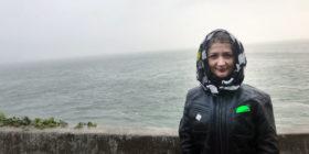 Gloomy Alcatraz Island
