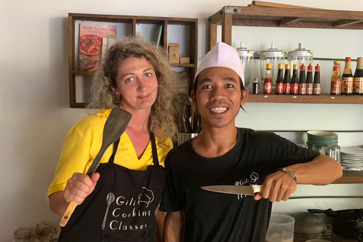 Back to basics with an easy Gili Cooking Class minus the kecap manis!